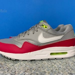 Nike Air Max 1 GS Youth Sizes Grey Pink White Volt